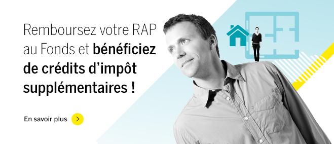 Remboursez votre RAP au Fonds et obtenez +30 % de crédits d'impôt!