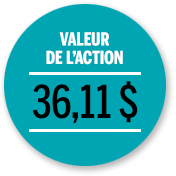 Valeur de l'action janvier 2017
