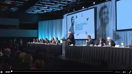 Diffusion vidéo de l'assemblée générale annuelle 2016 du Fonds de solidarité FTQ